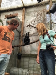 Henry & Miranda with Livingstone bat